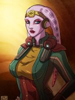 Viula Makesa Star Wars SWTOR Twi'lek smuggler by Aliens-of-Star-Wars