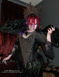 Queen of the Corvids Costume 11 by MorganCrone