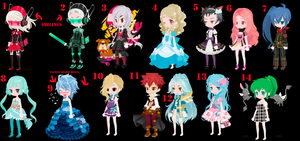 Free Selfy Adopts Pack 27 (1/14 Open) by mermagic-adopts