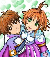 Syaoran and Sakura by MillyT
