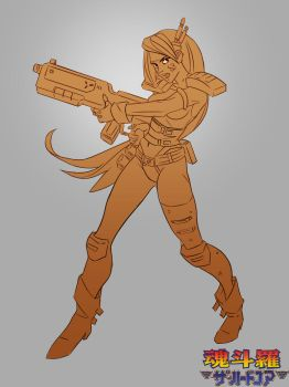 Sheena Etranzy from Contra the Hard Corps by red--fox