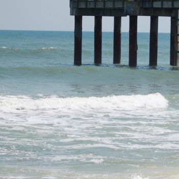 Free Stock Pier Surf Ocean Waves by SilverRiverStock