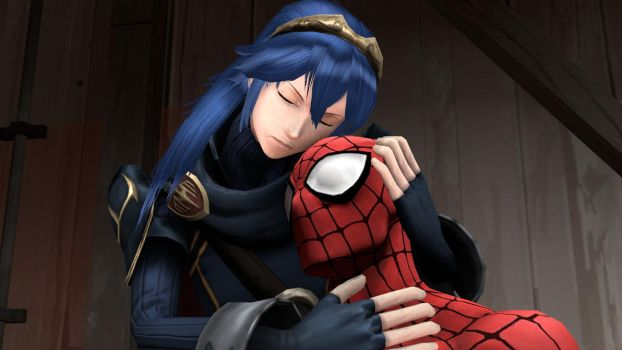 Lucina and Spider-Man: I care about you! by kongzillarex619