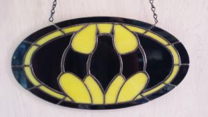 Batman Symbol in Stained Glass by Vincenzo222