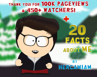 20 Facts about me + Thank you for 100k pageviews! by hercamiam