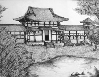 The Japanese Temple by eychanchan
