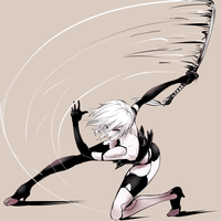 NieR: Automata A2 slash by ozkh