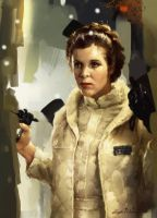 Princess-Leia-portrait- by GiddyGriffin