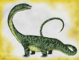 Land of Scales: Brontosaur (Procerus Serpens) by Quinn-Red