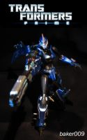Transformers Prime Arcee Custom with Gun by Baker009