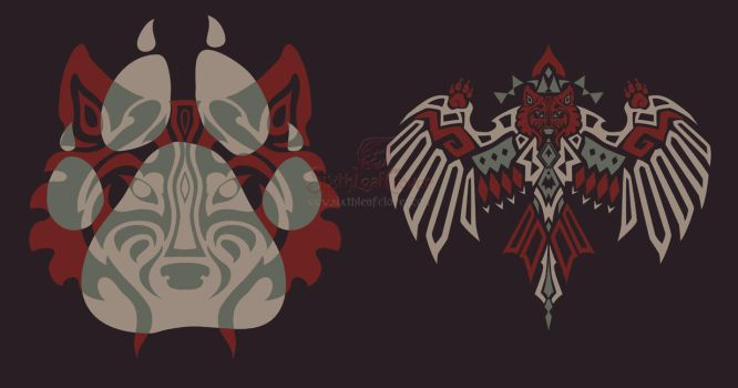 Wolf Designs by The-SixthLeafClover