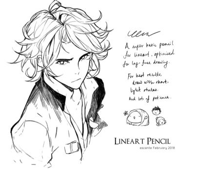 Lineart Pencil for CLIP Studio Paint by Escente