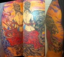 Lion and Lady Tattoo finished by ShannonRitchie