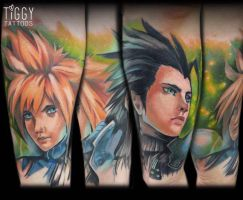 Zack and Cloud tattoo work by jenova-phobia