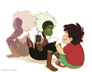 Centi and Steven by ikimaru-art