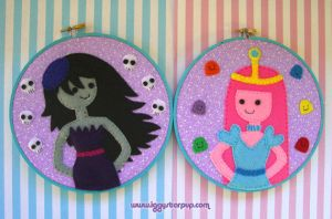 Bubbline Embroidery Hoop Set by iggystarpup