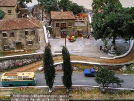 Greek village diorama by thecarcass