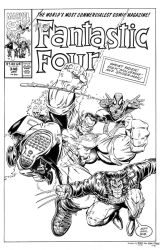Fantastic Four #348 Cover Recreation by dalgoda7