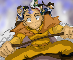 Aang Gang to the Firenation by Lillyavatarfan