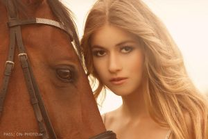beauty and a horse by PASSiON--PHOTO