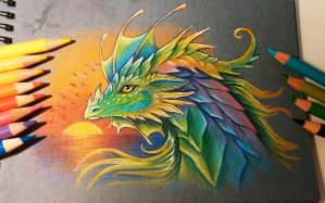 Prismatic dragon by AlviaAlcedo