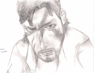 Naked Snake Drawing by dpmm07