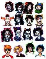 Homestuck Busts by Caden13