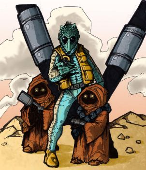 Star Wars - Greedo by relkavin