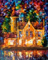 Castle Of Thoughts by Leonid Afremov by Leonidafremov