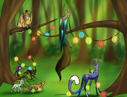 Glow Festival Part 1- Decorating by ShimmerSylph