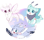 [Auction] Flying Pastel Mothcats by OMGProductions