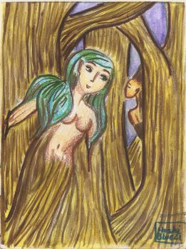 Dryad-mixed media collection by HoshiBlue21