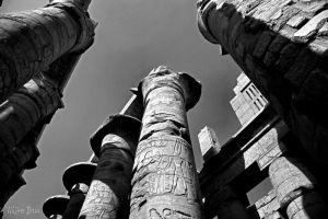 Pillars in Karnak Temple by WhiteBook