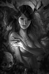 Dark Fairies Wood by Coliandre