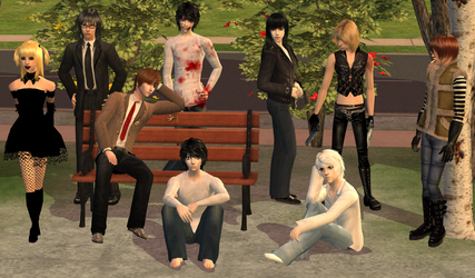 Sims 2 Death Note Family by MisgivingsX