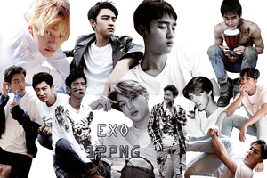 EXO PNG Pack {Dear Happiness Part. 3} by kamjong-kai