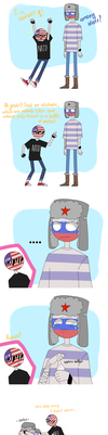 Russia and USA [Countryhumans/balls] by LuluDig
