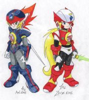 Axl.EXE and Zero.EXE by StephODell