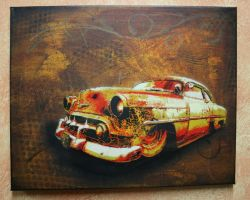 Rusty Car canvas by Tony231
