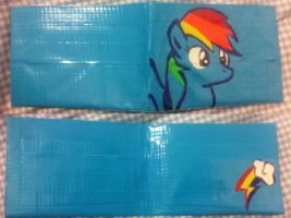 Duct Tape Wallet- Rainbow Dash by areica