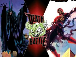 Red Rain Batman vs Zombie Spider Man by ToxicMouse77