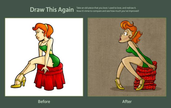 Draw This Again Contest - Red Head by moonie