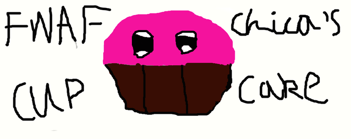Fnaf Chica's Cupcake-No candle. by FireNinjaKai