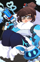 Overwatch: Mei Day by QueenAshi