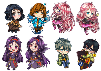 CF2014 : Chibies Bookmarks coloured by shootingstarsgrazing