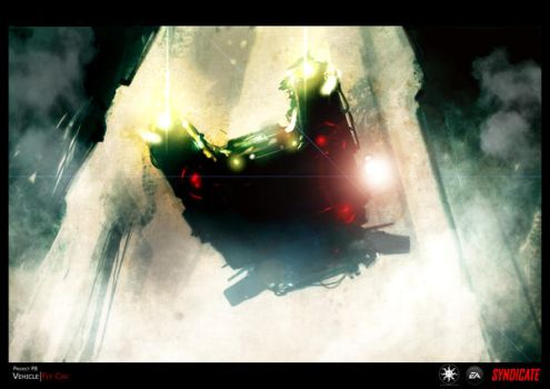 SYNDICATE concept - hover car by torvenius