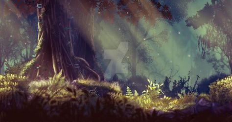 Magic Wood by Meljona