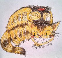 Inktober Day 14: Catbus by elyon192