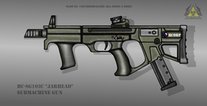 Fictional Firearm: HC-SG103c Submachine Gun by CzechBiohazard