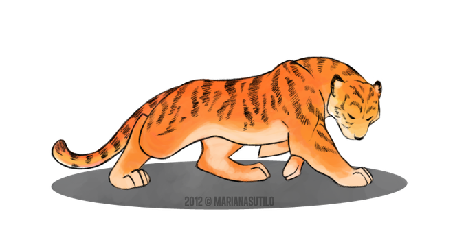 Tiger speed paint by MarianaDS